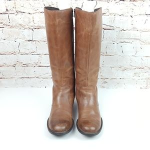 BORN|Cognac Brown Distressed Riding Boots Sz 7.5